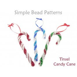 DIY Candy Cane Ornaments to Make for Christmas Tree Beading Pattern