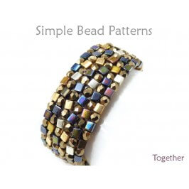 How to Make a Bracelet with Beads Herringbone Stitch Beading Pattern