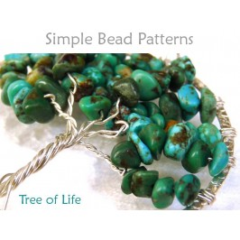 Tree of Life Pendant Tutorial with Gemstone Chip Beads & Wire