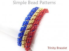 DIY Multi Strand Beaded Bracelet Spiral Stitch Beading Pattern