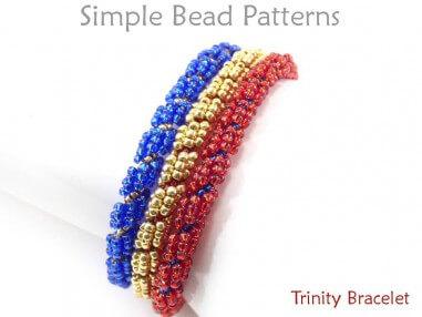 DIY Multi Strand Beaded Bracelet Spiral Stitch Beading Pattern