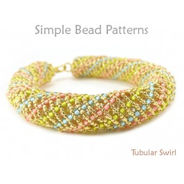 Spiral Bracelet Tutorial with Seed Beads Beading Pattern