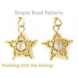 Beaded Earrings Patterns for Beginners Star Earrings Tutorial