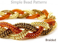 DIY Beaded Bracelet Necklace Tubular Herringbone Stitch Instructions