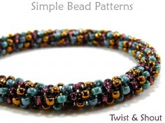 Odd Count Tubular Peyote Instructions Beading Pattern