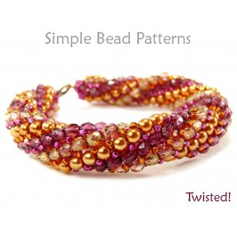 Twisted Herringbone Stitch DIY Bracelet & Necklace Beading Pattern