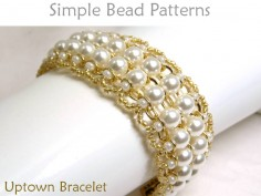 Pearl Bracelet DIY Beading Pattern Beaded Chain Bracelet Tutorial
