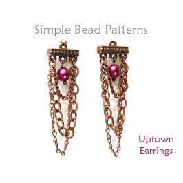 How to Make Beaded Earrings with Chain & Pearls Beading Pattern