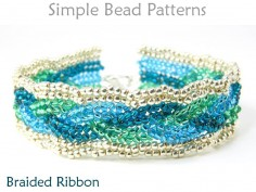 Beaded Herringbone Stitch Braided Bracelet Pattern