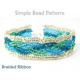 Beaded Herringbone Stitch Braided Bracelet Pattern