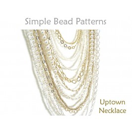 DIY Multi Strand Necklace Tutorial Long Necklace Pattern