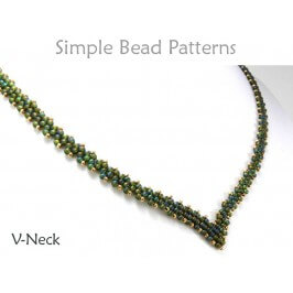 Diagonal Peyote Stitch Instructions to Make a DIY Beaded Necklace