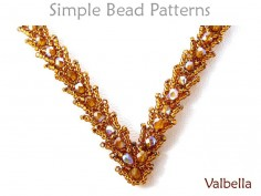 St Petersburg Stitch Necklace Beading Tutorial by Simple Bead Patterns