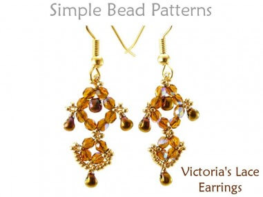 How to Make Beaded Earrings DIY Jewelry Making Beading Pattern