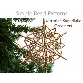 Beaded Snowflake Ornament Instructions Beading Pattern