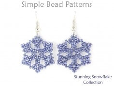 Beaded Snowflake Pattern DIY Earrings & Necklace Beading Tutorial