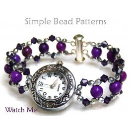 Beaded Watch Band Pattern DIY Beaded Bracelet by Simple Bead Patterns