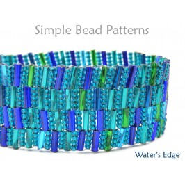 DIY Beaded Bracelet Bugle Bead Pattern Peyote Stitch Tutorial