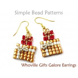 How to Make Beaded Earrings DIY Christmas Jewelry