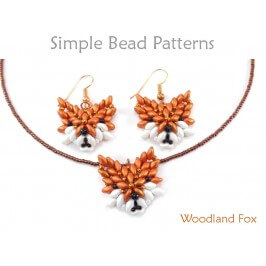 Fox SuperDuo Bead Tutorial Beaded Animal Pattern
