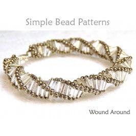Bugle Bead Pattern DIY Beaded Bracelet & DIY Beaded Necklace Tutorial