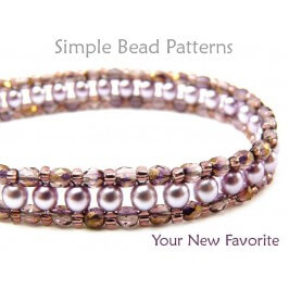 Right Angle Weave Bracelet Tutorial RAW Beading Pattern with Pearls