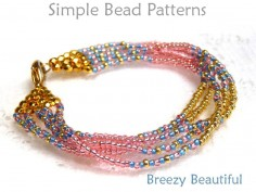 Brick Stitch Multi Strand Bracelet Tutorial by Simple Bead Patterns