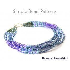 Brick Stitch Multi Strand Bracelet Tutorial by Simple Bead Patterns