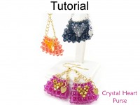 Crystal Beaded Mini Purse Earrings & Charm Keychain Beading Pattern