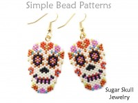 Day of the Dead Sugar Skull Earrings, Necklace, Pin Beading Pattern