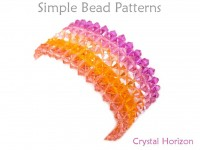 Beaded Crystal Bracelet Right Angle Weave Beading Pattern Tutorial