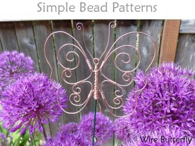 DIY Wire Butterfly Garden Stake or Window Decor Wire Working Tutorial