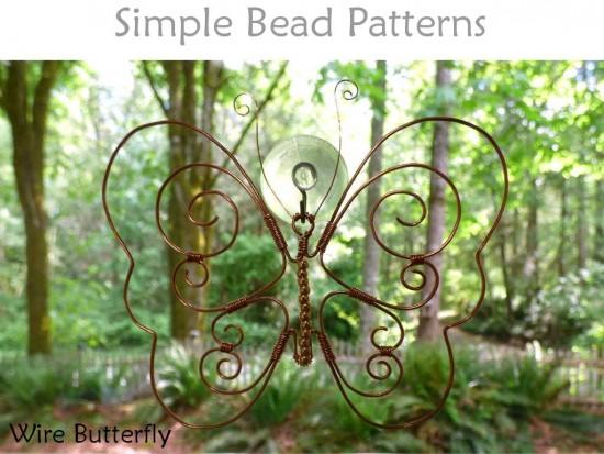 DIY Wire Butterfly Garden Stake or Window Decor Wire ...