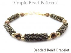 Free Bracelet Beading Pattern Peyote Stitch Beaded Bead Tutorial
