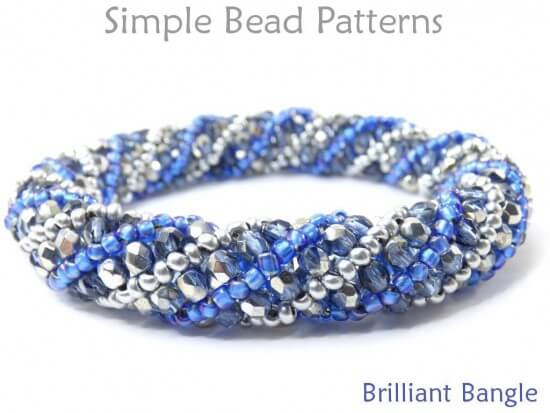 Russian Spiral Stitch Diy Beaded Bangle Bracelet Tutorial