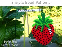 How to make DIY garden markers with perler beads for home garden fruits & veggies