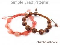 DIY Shamballa Bracelet Tutorial Macrame Slide Knot Beading Pattern