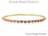 Wire Wrapped Rhinestone Cup Chain Crystal Bangle Bracelet Tutorial