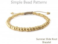 DIY Beaded Sliding Knot Stacking Bracelet Easy Beginner Tutorial