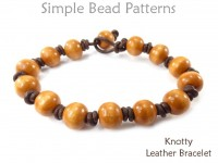 DIY Leather Bracelet with Pearls Jewelry Making Beading Pattern