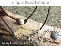 DIY Leather Necklace with Pearls & Handmade Clasp Beading Pattern