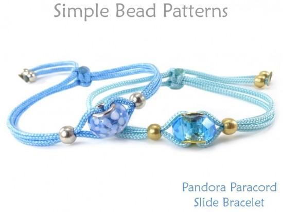 Fun Pandora Paracord Adjustable Slide Knot Bracelet Beading Tutorial