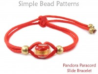 Fun Pandora Paracord Adjustable Slide Knot Bracelet Beading Tutorial