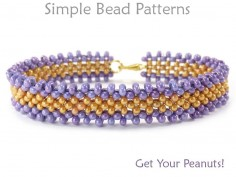 Right Angle Weave Bracelet Tutorial with Peanut Beads / Farfelle Beads