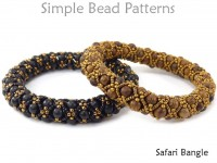 DIY Beaded Bangle Bracelet Jewelry Making Tutorial with Wood Beads