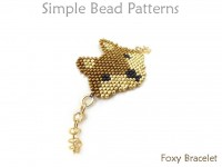 Brick Stitch Beaded Fox Chain Bracelet Jewelry Making Beading Pattern