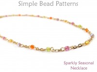 Easy Beginner Wire Wrap Beaded Chain Necklace DIY Tutorial