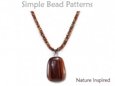 DIY Gemstone Pendant Necklace Cubic Right Angle Weave CRAW Tutorial