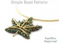 SuperDuo Maple Leaf Pendant Necklace Autumn Fall DIY Jewelry Tutorial