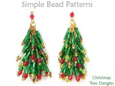 Beaded Christmas Tree Earrings Holiday DIY Wire Working Tutorial